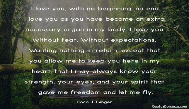 Coco J. Ginger love quote